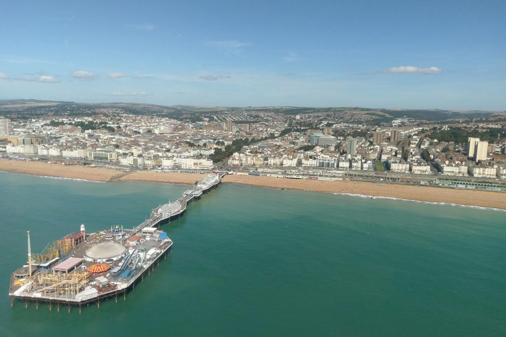Brighton seafront from the air