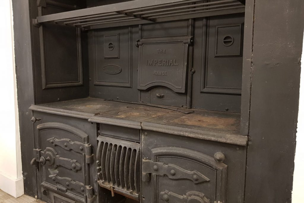23 Grand Parade retains many early features, this is the range oven in the meeting room
