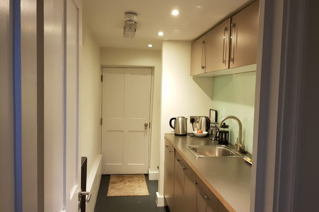 The kitchenette – modern utilities compliment original Georgian features