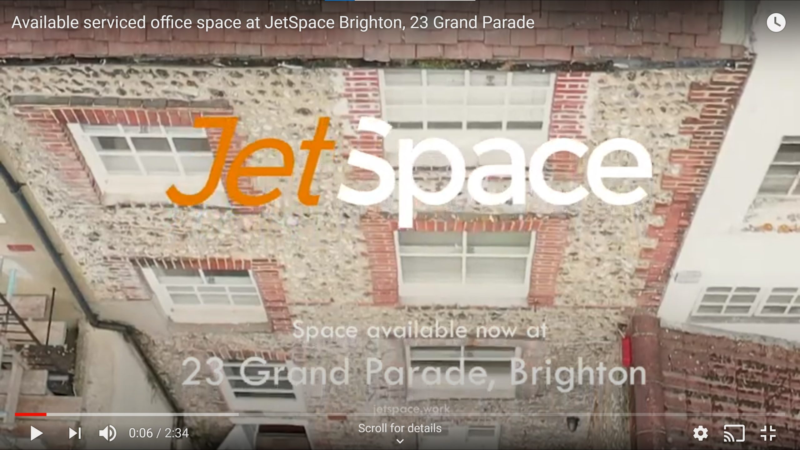 Brighton available office space video